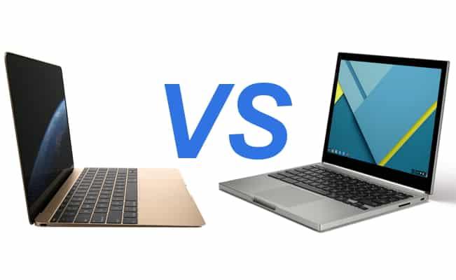 MacBook-VS-ChromeBook-1 مقارنة بين الحاسوبين كروم بوك بيكسل و ماك بوك 2015