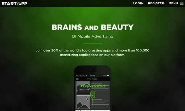 startapp أفضل البرامج الإعلانية للربح من تطبيقات و ألعاب الموبايل