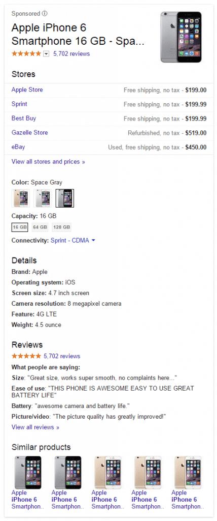google-shopping-ads-10-428x1024 جهود بينج و جوجل لإغراء الشركات و المتاجر الإلكترونية
