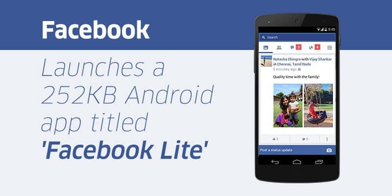 yourstory_FacebookLite سيو: نسخة المحمول للإنترنت الضعيف على طريقة Facebook Lite