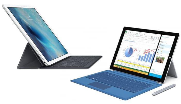 ipad_pro_vs_surface_pro_3 لوحي iPad Pro هو تقليد للوحي Surface Pro 3