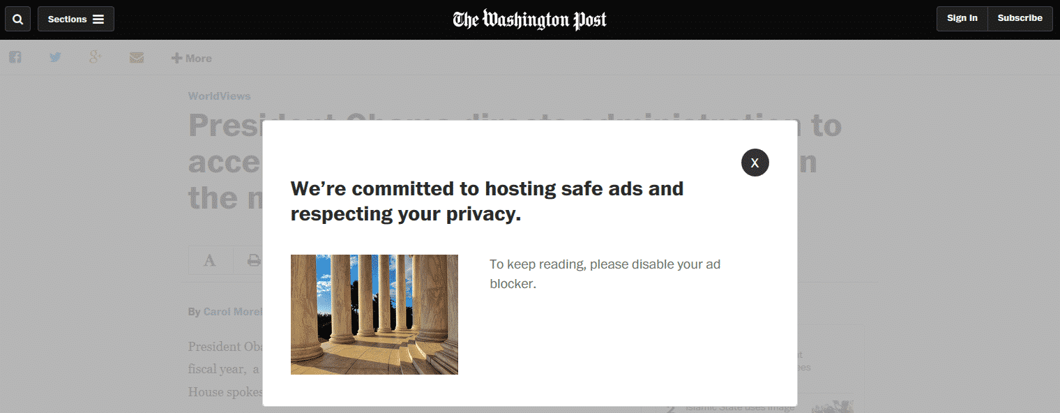 washington-post-1 يوتيوب و واشنطن بوست يحاربان اضافات AdBlock