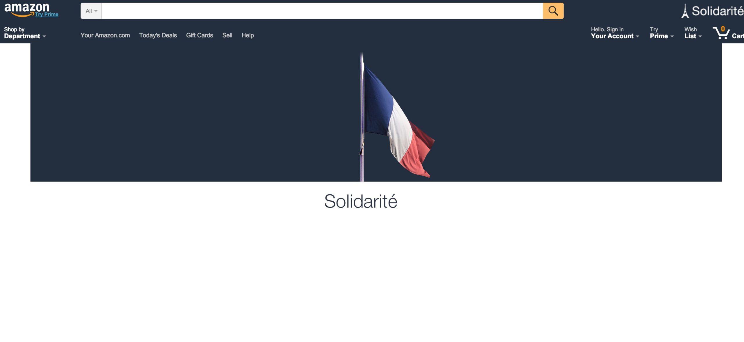 amazon-home-page ضحكة تقنية: فوضى تفجيرات باريس على الشبكات الإجتماعية
