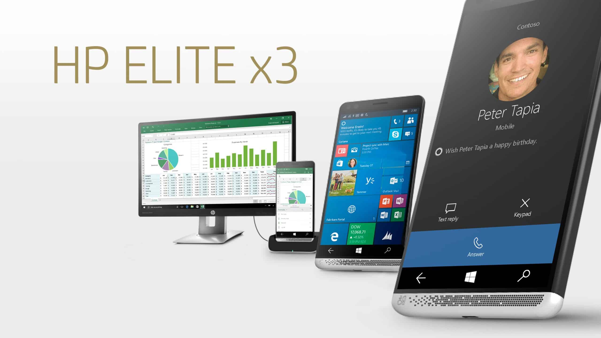 HP-Elite-x3 HP Elite x3 أفضل هاتف ويندوز 10 للأعمال ومنافس لبلاك بيري برايف