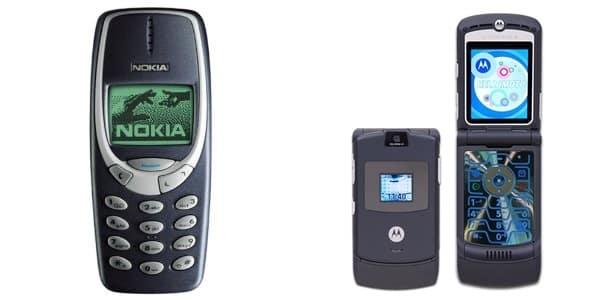 Nokia-3310-and-Motorola-RAZR-V3 ضحكة تقنية: آبل و سامسونج و جوجل إمبراطوريات لن تموت