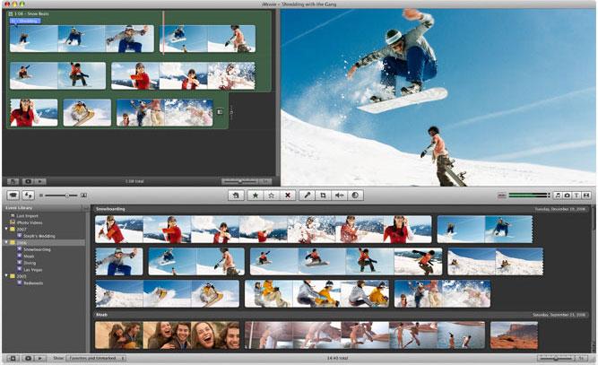 iMovie-Mac أفضل 5 برامج مجانية لصناعة فيديوهات يوتيوب إحترافية