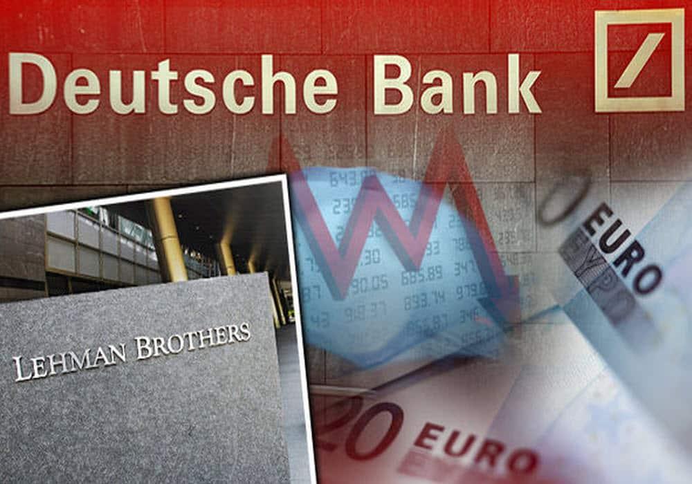 Deutsche-Bank في الذكرى الثامنة لإفلاس ليمان براذرز وإندلاع أزمة 2008 هل حان سقوط دويتشه بنك؟