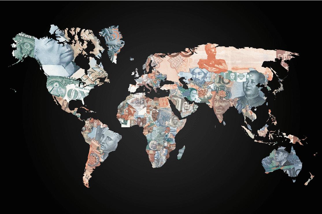 map-currencies سعر العملة لا علاقة له بقوة الإقتصاد