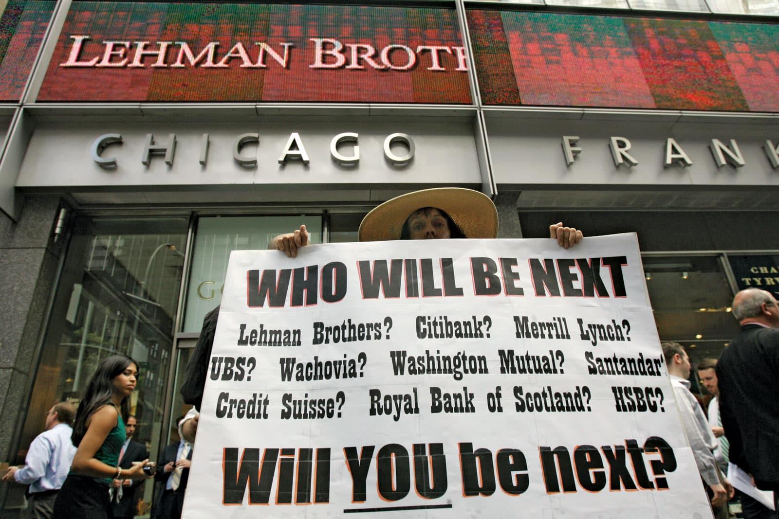 Lehman-Brothers أكبر الشركات والبنوك التي تعرضت للإفلاس نتيجة أزمة 2008