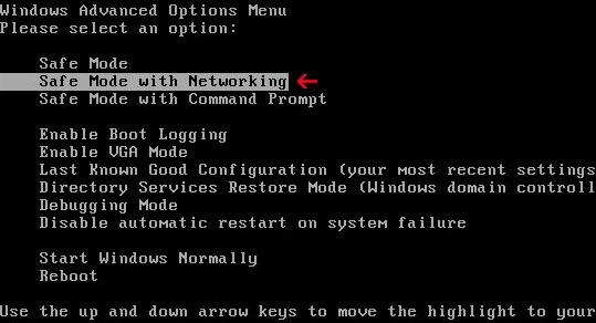 Safe-Mode-with-Networking كيفية حذف فيروس الفدية WannaCry من حواسيب ويندوز المصابة