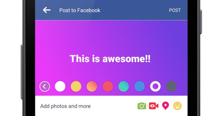facebook-status-color سر المنشورات الملونة في فيس بوك ومهمتها في تحطيم تويتر