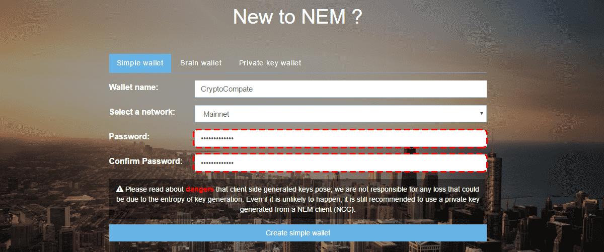 Nano-Wallet-2 كيفية شراء عملة NEM أو العملاق النائم XEM بسهولة