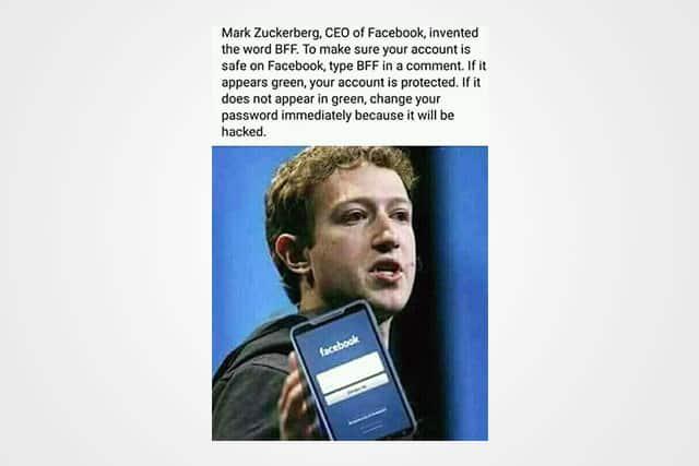 Facebook-Zuck-Hoax ضحكة تقنية: أكتب BFF في تعليق للتحقق من اختراق حساب فيس بوك
