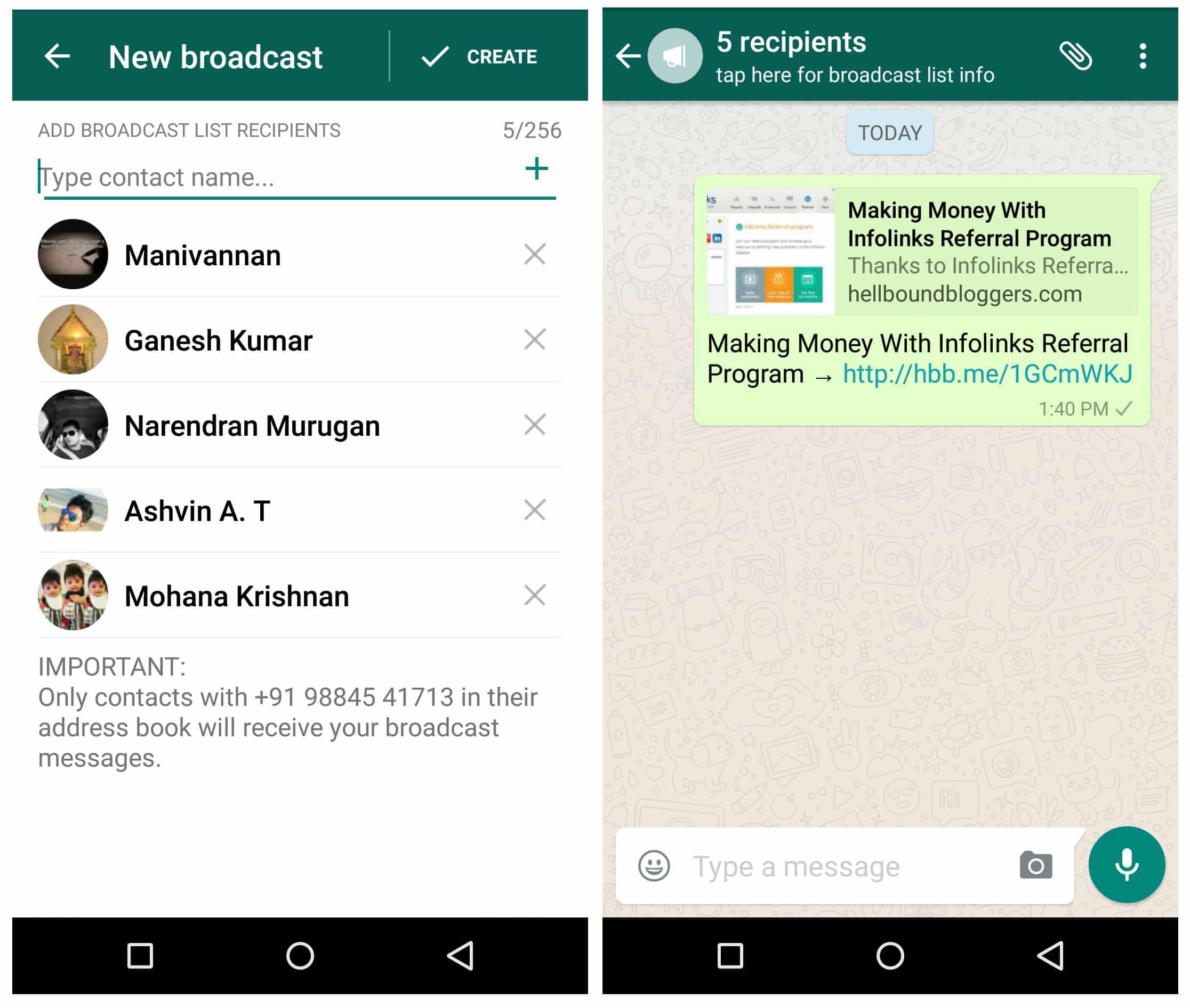 WhatsApp-Broadcast-Articles كيفية جلب الزيارات من واتساب إلى المواقع الإلكترونية