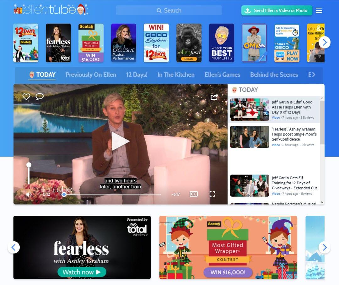 ellentube.com_ منصة Ellentube تكشف عن فشل يوتيوب