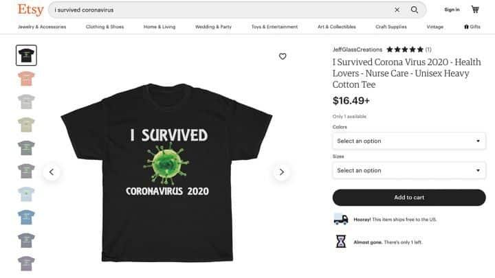 coronavirus-tshirt-ETSY طرق كسب المال من فيروس كورونا والأوبئة على الإنترنت